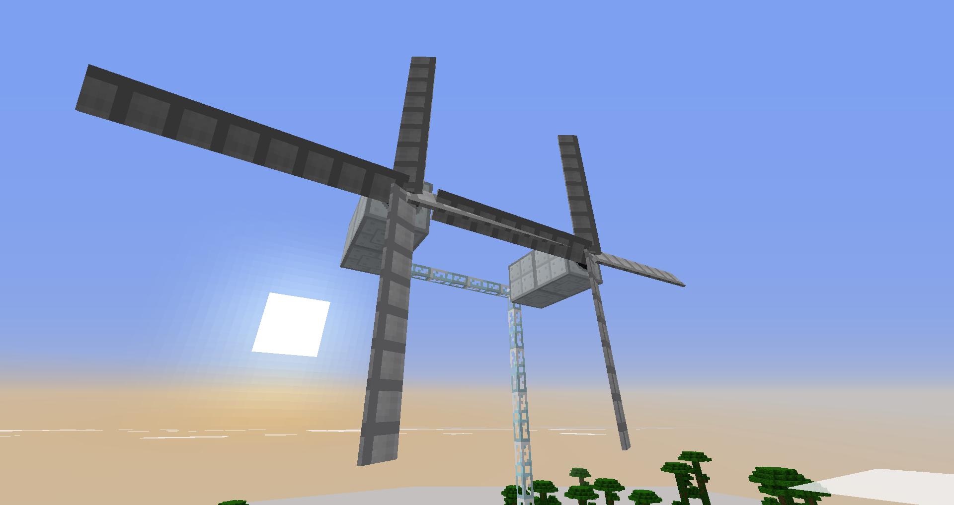 ветрогенераторы в майнкрафте и роторы #5