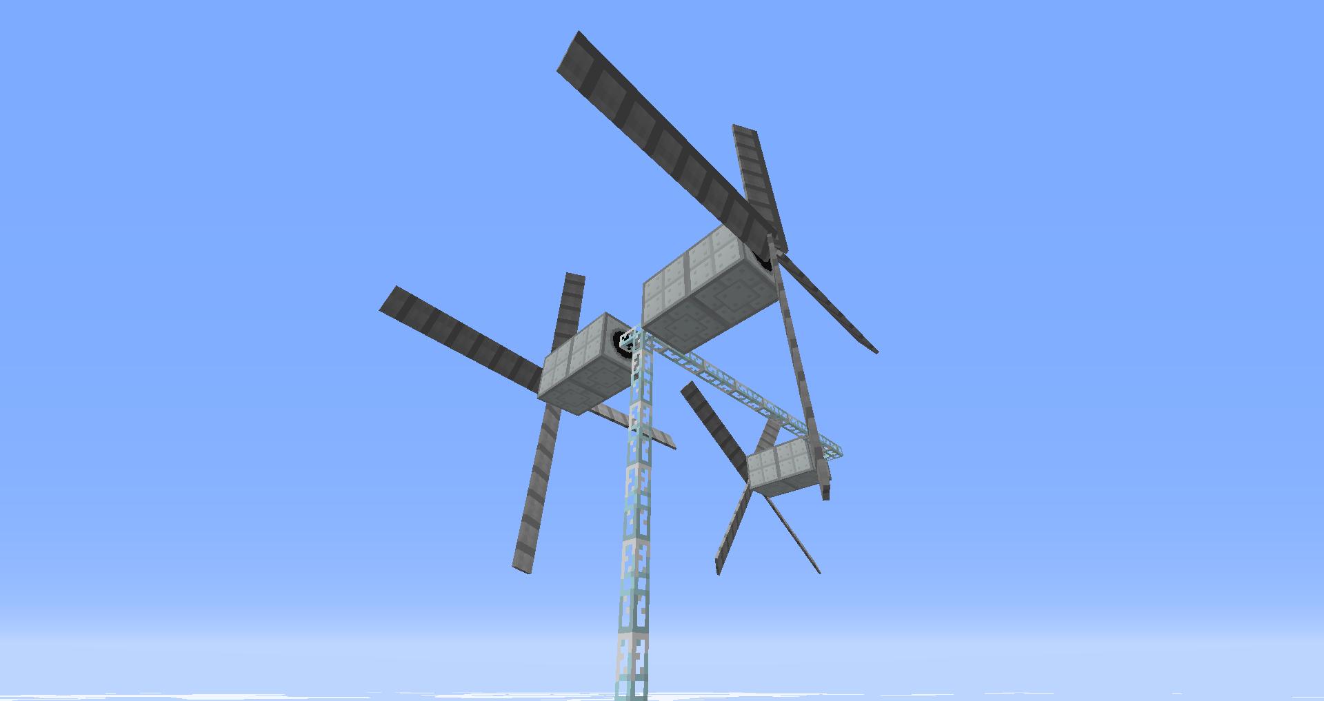 ветрогенераторы в майнкрафте и роторы #7