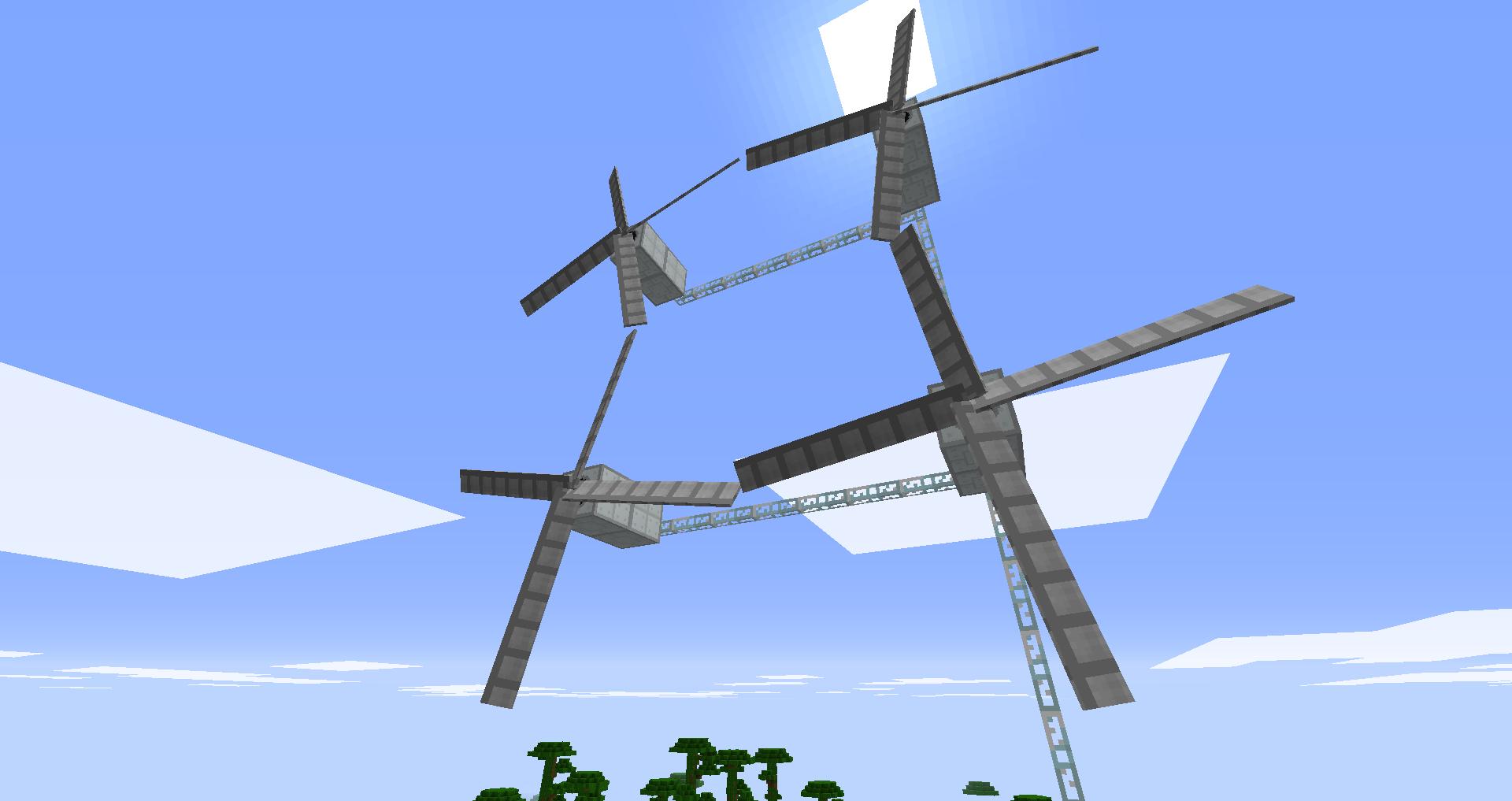 ветрогенераторы в майнкрафте и роторы